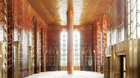 hidden art deco lobby  wall street undergoes
