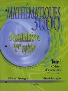 Commandez Math U00e9matiques 3000  1re Secondaire  Cahier D