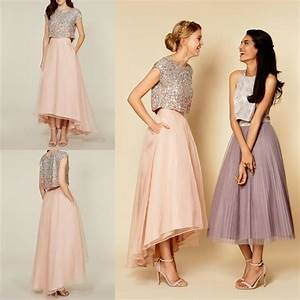 2016 tutu skirt party dresses sparkly two pieces sequins With two piece dresses for wedding guest