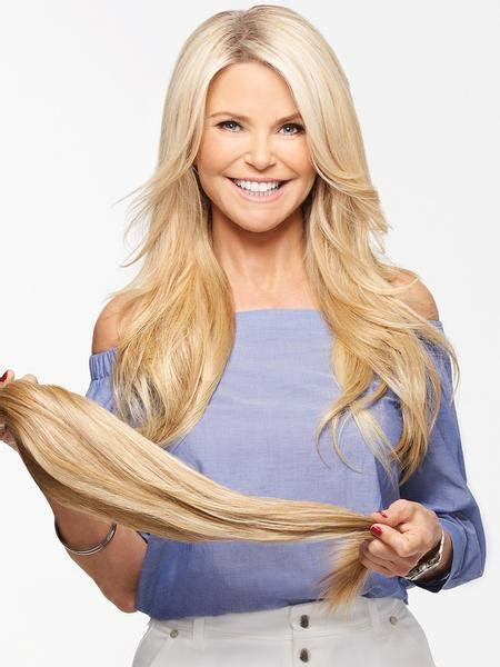 straight clip  extensions  christie brinkley