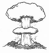 Bomb Mushroom Cloud Atomic Clipart Explosion Sketch Drawing Shadow Line Clip Human Animal Making Nuclear Drawings Outline Enemy Homo Hostilis sketch template