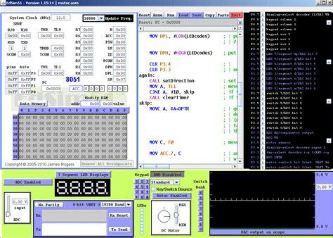 Download Edsim51 8051 Microcontroller Free Simulator. 8051