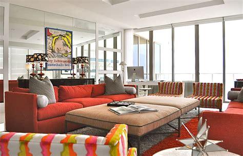 high rise oceanside condo living room  bright