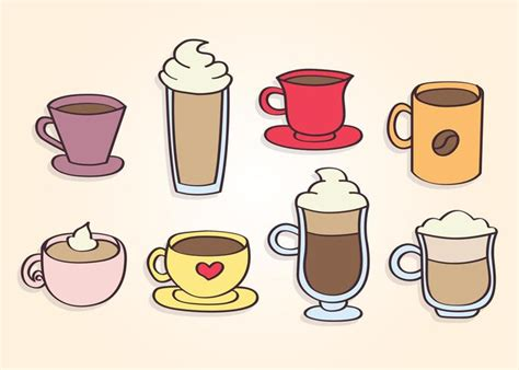 These free svg coffee cup templates are great to use by. Hand Drawn Coffee Cups Vector - Download Free Vectors, Clipart Graphics & Vector Art