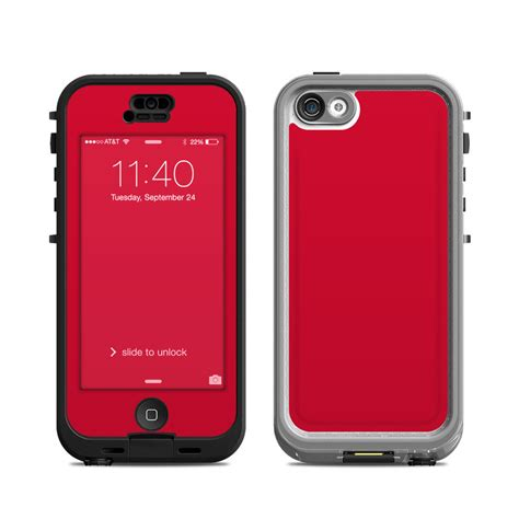lifeproof cases for iphone 5c lifeproof iphone 5c nuud case skin solid state red by Lifep