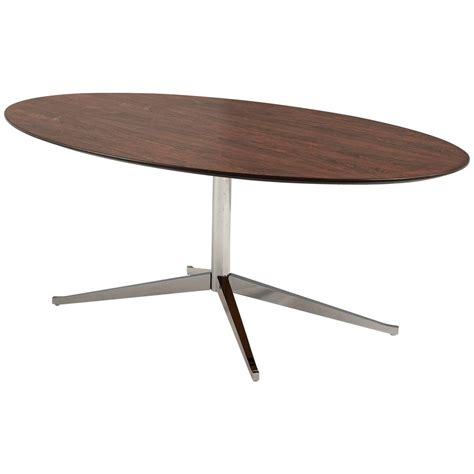 oval dining tables for florence knoll oval shaped dining table in rosewood for 7250