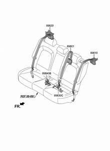 2019 Hyundai Kona Electric Rear Seat Belt