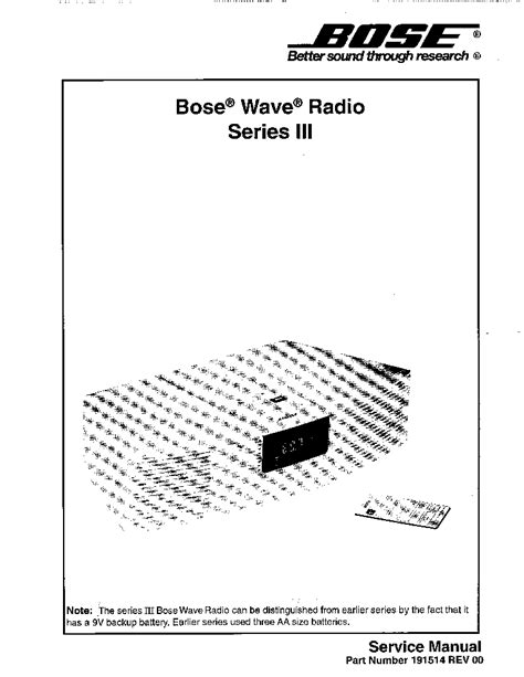 bose wave radio series iii service manual schematics eeprom repair info for