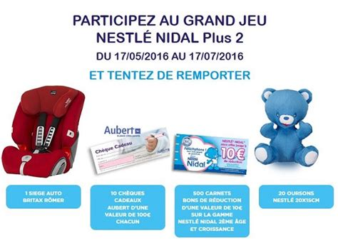siege auto evolva nestlé nidal 531 cadeaux gratuits