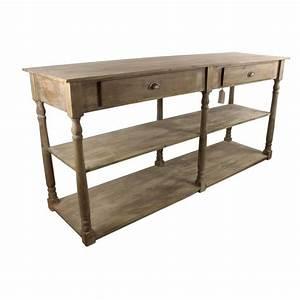 Meuble De Drapier : meuble console drapier bois 2 tiroirs 190x54x87cm salle ~ Teatrodelosmanantiales.com Idées de Décoration