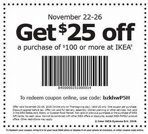Ikea Coupon Versand : ikea black friday 25 off 100 printable coupon 11 22 11 26 ~ Eleganceandgraceweddings.com Haus und Dekorationen