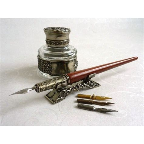 wooden calligraphy dip  inkwell  holder