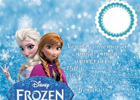 fotomontagem convite de aniversario frozen pixiz