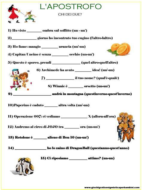 Scienze Dell Educazione Senza Test D Ingresso Scheda Didattica Per Bambini Sull Accento Apostrofo