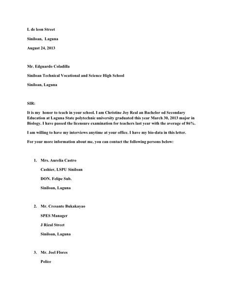14884 application letter sle for fresh graduate financial management www application letter for 28 images 6 write an