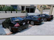GTA V MERCEDES S600 W220 VS BMW 760I E65 VS AUDI A8