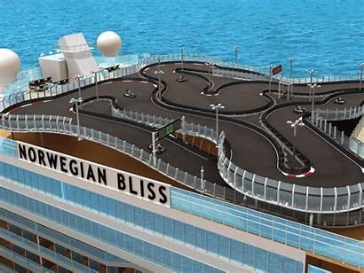 Norwegian Cruise Bliss Line Race Track Ship