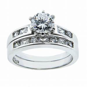 Sterling silver two piece wedding rings for 2 piece wedding rings