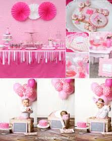 Pink 1st Birthday Party Ideas