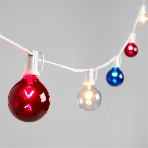 white and blue string lights world market