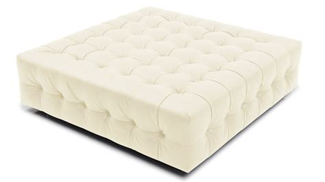 large white tufted ottoman modern tufted fabric upholstered sonja ottoman zuri