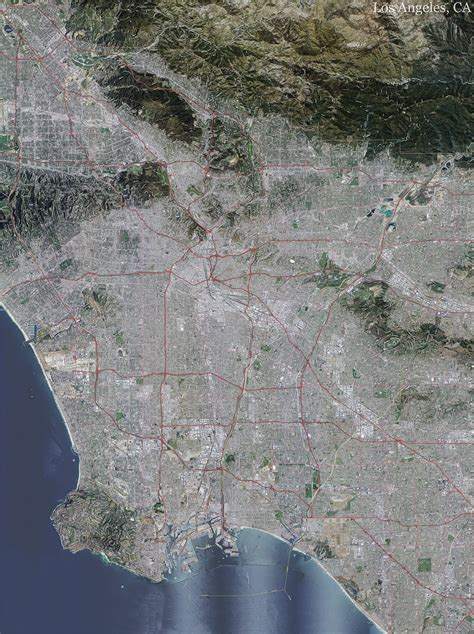 los angeles topo map  aerial photography