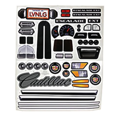 power wheels cadillac escalade decal sheet n8417 0311 power wheels cadillac escalade decal sheet n8417 0311