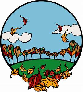 Fall Scene In A Circle Clipart   i2Clipart - Royalty Free ...