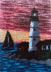 Lighthouse Latch Hook Rug Kits
