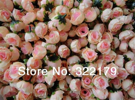 wholesale  champagne silk rose heads cheap artificial