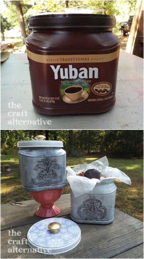Outdoor spring & summer craft idea :: 30 Crafty Repurposing Ideas For Empty Coffee Containers - DIY & Crafts