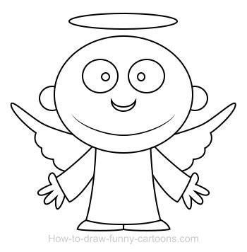 drawing  angel cartoon