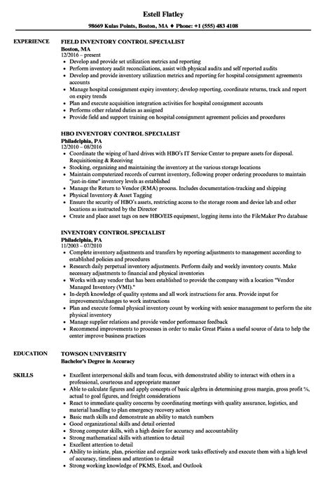 Resume Inventory Management by Inventory Specialist Description Resume