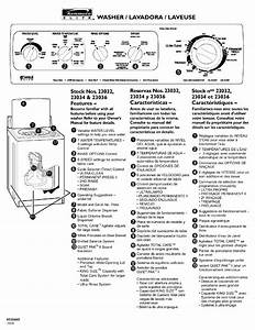 Kenmore Elite 11023032100 User Manual Washer Manuals And