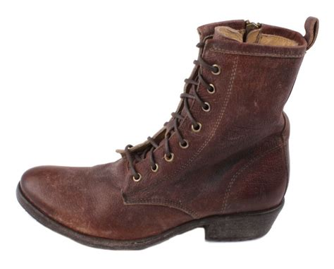 Ankle Boots : Frye Carson Lug Lace Up Womens Dark Brown Stone Antique