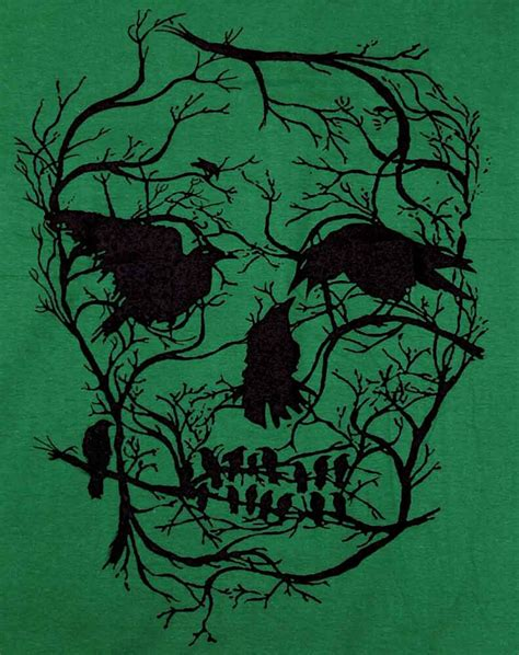 Death Skull Tree Bird Banksy Street Art Graffiti Stencil