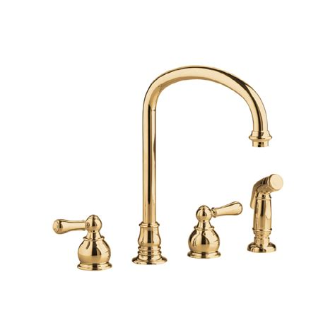 polished brass kitchen faucets shop kitchen sink faucets at lowes com