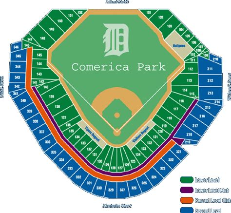 comerica park phone number seating at comerica park