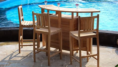 wood mini bar designs with stools for luxury garden near