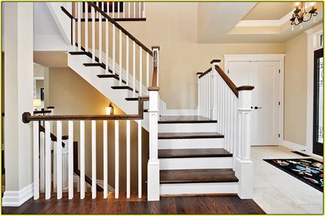 Wrought Iron Stair Railing Kits Modern Wood Indoor Lowes