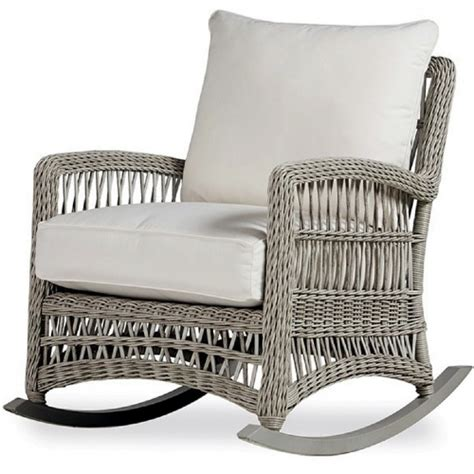 lloyd flanders wicker furniture rocking lounge chair