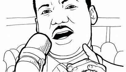 Martin King Luther Coloring Jr Pages Printable