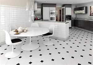 Küche Fliesen Ideen : fliesen f r k che mit schwarz wei keramikfliesen ~ Sanjose-hotels-ca.com Haus und Dekorationen