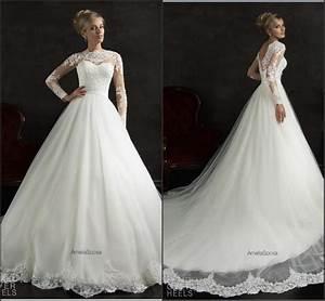 long sleeve amelia sposa white wedding dresses 2015 With cheap winter wedding dresses