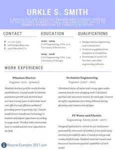best resume sles 2017 best resume exles 2017 on the web resume exles 2017