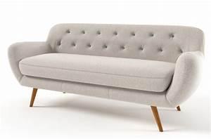 canape 3 places en tissu de qualite zest ivoire With tapis enfant avec canapé 3 places tissu design