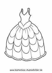 Ausmalbilder Abendkleid Kleidung Zum Ausmalen