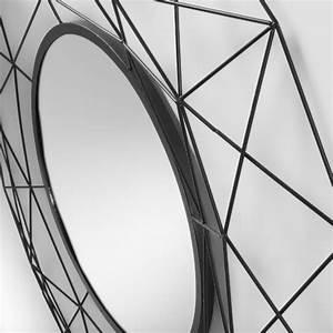 Miroir Rond Métal Noir : habita miroir rond m tal noir coco corner ~ Teatrodelosmanantiales.com Idées de Décoration
