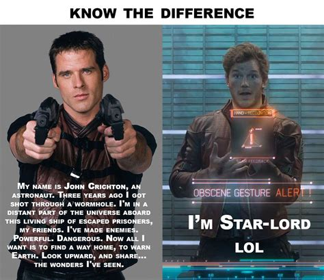 Guardians Of The Galaxy Memes - farscape of the galaxy know the difference guardians of the galaxy know your meme