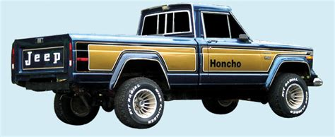 jeep honcho custom phoenix graphix 1976 78 jeep honcho truck decal kit